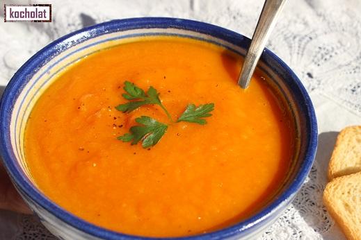 sopa crema de zanahorias y naranja, sopa de zanahorias y naranja, sopa de zanahorias, crema de zanahorias, kocholat